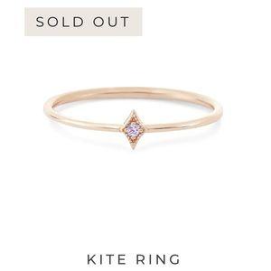 Bluboho Rose Gold Kite Ring 14k Lavender Sapphire